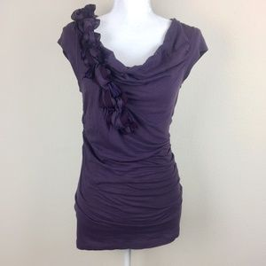 Deletta Anthropologie Cowl Neck Rushed Top S